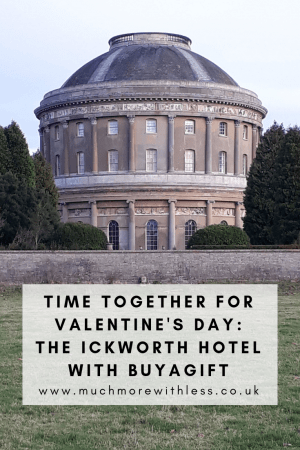 Pinterest size image of the rotunda at Ickworth for my post about Valentine's Day at The Ickworth Hotel
