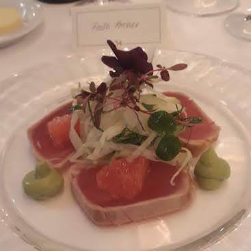 Picture of the starter at a Rathbones dinner