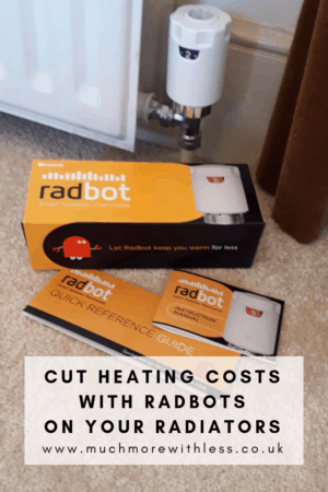 Pinterest size image of Radbot on a radiator with instructions