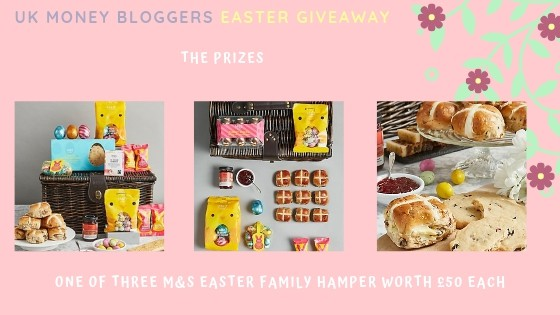 Picture of the M&S Easter family hamper worth £50 for the UK Money Bloggers Easter Giveaway