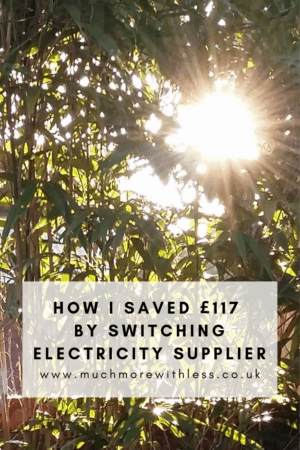 Pinterest sized image of sun through bamboo for my post on switching electricity supplier