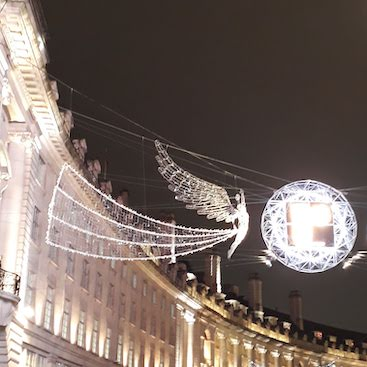 Picture of Regent Street Christmas lights for my post on switching electricity supplier