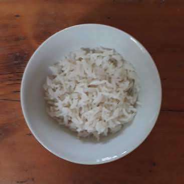 Picture of a bowl of plain boiled rice