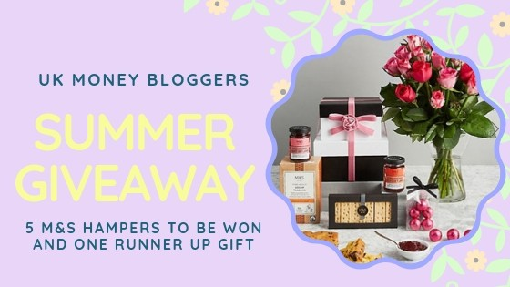 Picture about the summer giveaway including the M&S afternoon tea hamper with roses