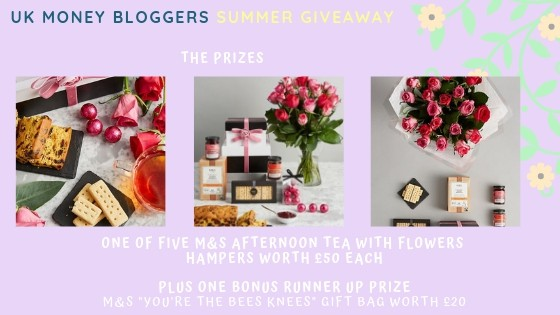 Picture of the MYS afternoon tea with flowers hamper to be won in the UKMB Summer Giveaway