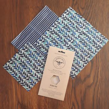 Picture of beeswax wraps for my post on simple swaps for plastic free products around the house