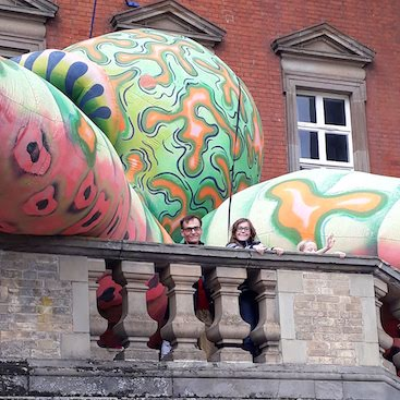 Picture of of an inflatable octopus at the Old Custom House