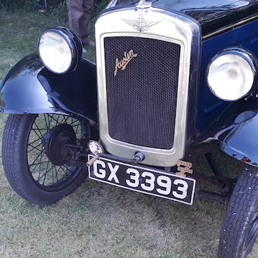 Picture of the front of an Austin 7 car