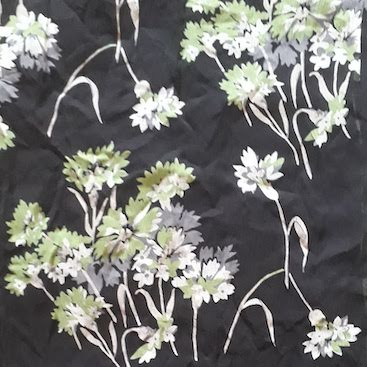 Picture of the floral print on my charity shop work dress for Second Hand September