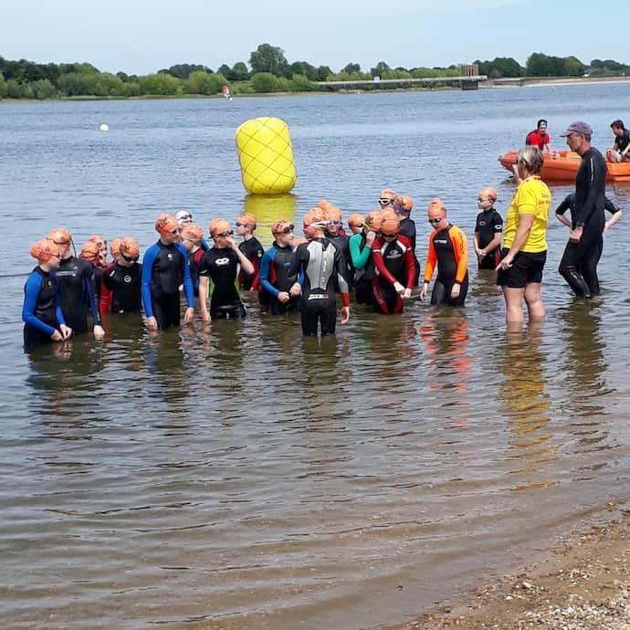 Picture of children in wetsuits at Alton Water