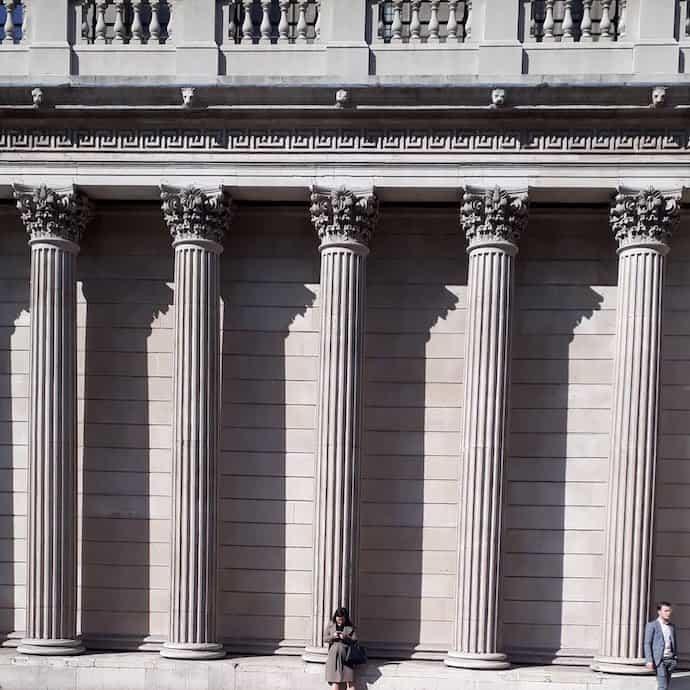 Pictures of big bank columns