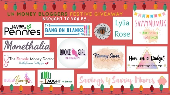 Pic of bunch of logos from UKMB where you can win 1 of 8 festive hampers