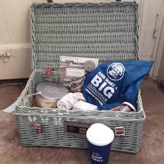 Picture of hamper from AmEx Shop Small