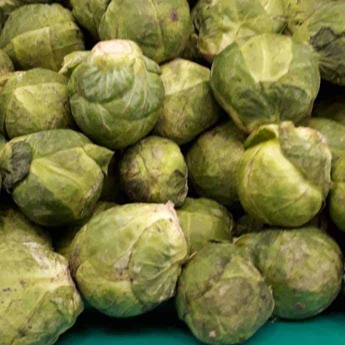 Picture of Brussel sprouts for my post on where to buy the cheapest Christmas veg