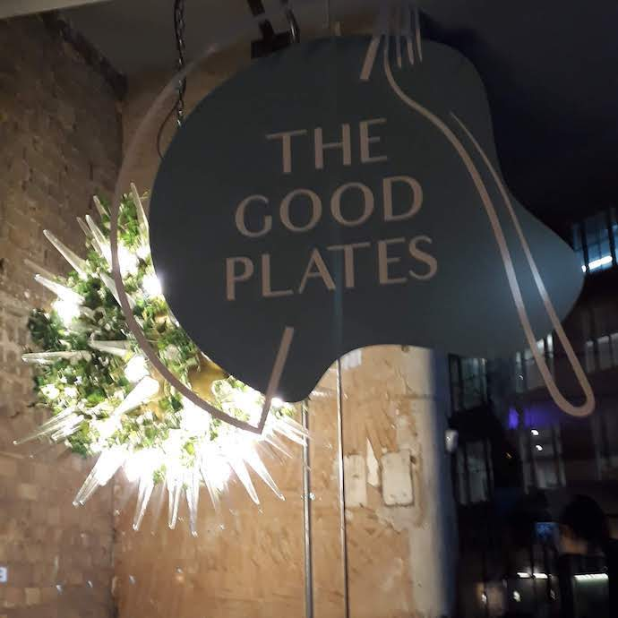 Picture of the Good Plates logo and fabulous lamp