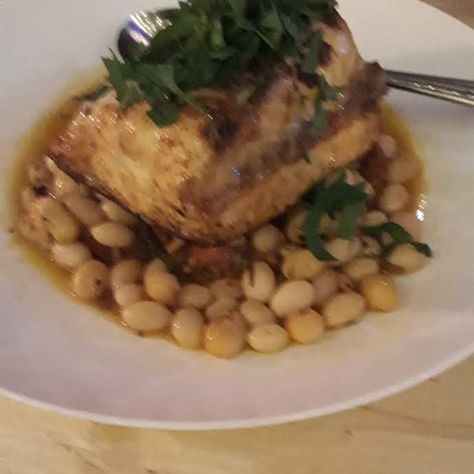 Picture of Good Plates dish with fish and beans