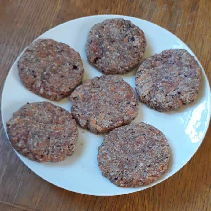 Picture of the beef burgers I made from the mince in the Morrisons £10 meat pack
