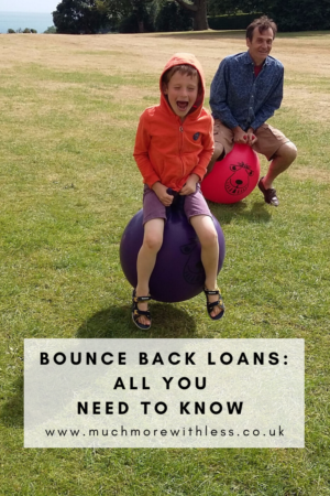 Pinterest size image of space hoppers for my post on Bounce Back Loans