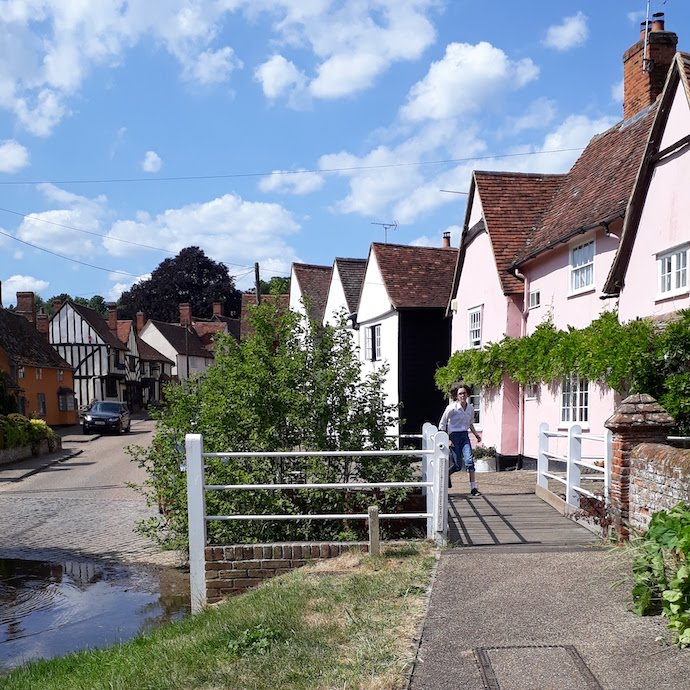 Picture of cottages and ford at Kersey