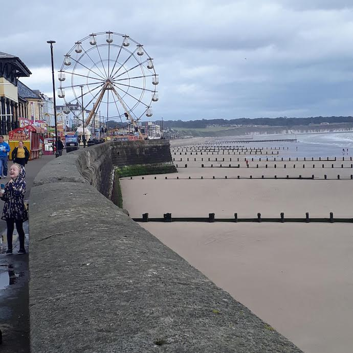 Picture of the Ferris wheel and beach at Bridlington