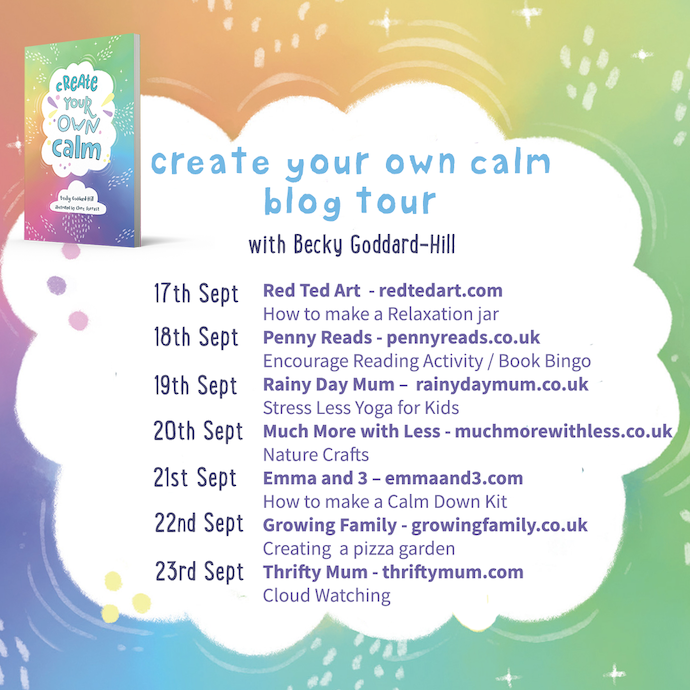 List of the posts on the Create Your Own Calm blog tour