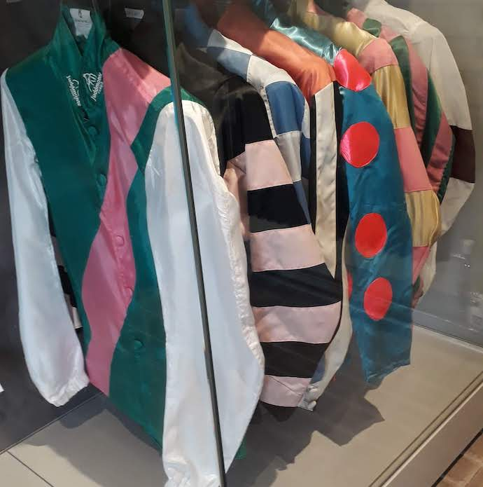Picture of jacket silks in the Museum of Racing, Newmarket